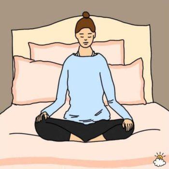 Поза медитации внимательности