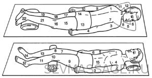 Общий классический массаж.Техника проведения.Вариант 1